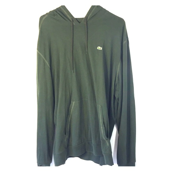 52dbf31f5467f3 Lacoste Other - Lacoste Hoodie Green Long Sleeve Size 9